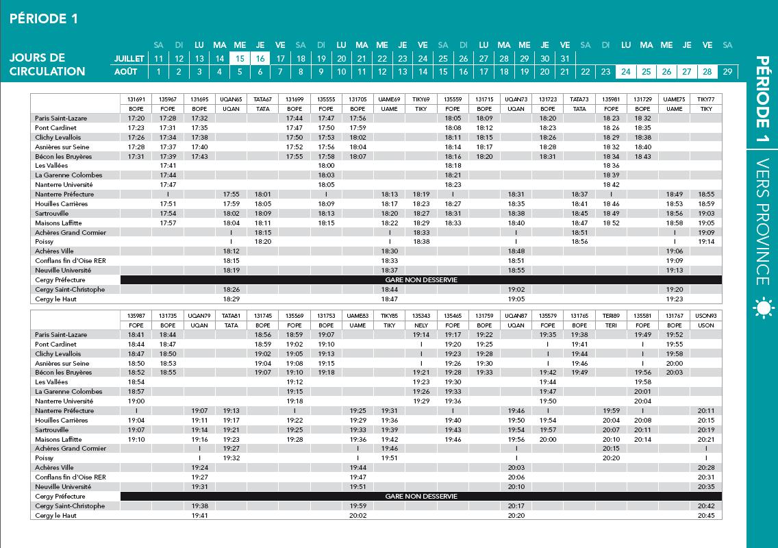 Pr parez vos d placements de l 39 t le guide horaires - La defense horaire d ouverture ...
