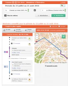 simulateur RATP travaux