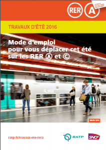 travaux RER A été 2016