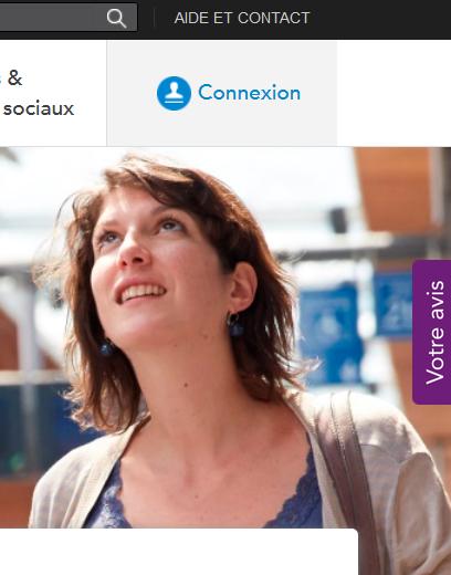 Page d'accueil site Transilien