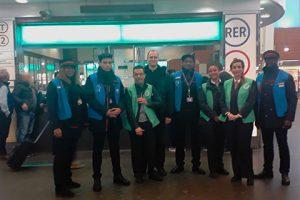 Une équipe d'agents RATP et SNCF en gare de La Défense